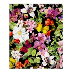 Beautiful,floral,hand Painted, Flowers,black,background,modern,trendy,girly,retro Shower Curtain 60  X 72  (medium)  by 8fugoso