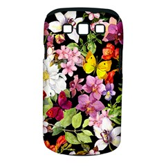 Beautiful,floral,hand Painted, Flowers,black,background,modern,trendy,girly,retro Samsung Galaxy S Iii Classic Hardshell Case (pc+silicone) by 8fugoso