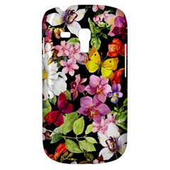 Beautiful,floral,hand Painted, Flowers,black,background,modern,trendy,girly,retro Galaxy S3 Mini by 8fugoso