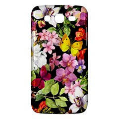 Beautiful,floral,hand Painted, Flowers,black,background,modern,trendy,girly,retro Samsung Galaxy Mega 5 8 I9152 Hardshell Case  by 8fugoso