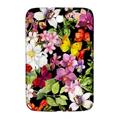 Beautiful,floral,hand Painted, Flowers,black,background,modern,trendy,girly,retro Samsung Galaxy Note 8 0 N5100 Hardshell Case  by 8fugoso