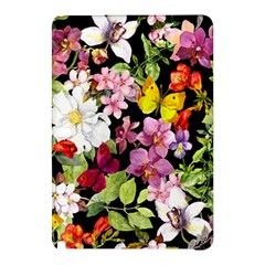 Beautiful,floral,hand Painted, Flowers,black,background,modern,trendy,girly,retro Samsung Galaxy Tab Pro 12 2 Hardshell Case by 8fugoso