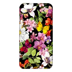 Beautiful,floral,hand Painted, Flowers,black,background,modern,trendy,girly,retro Iphone 6 Plus/6s Plus Tpu Case by 8fugoso