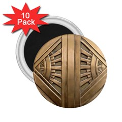 Art Deco Gold Door 2 25  Magnets (10 Pack)  by 8fugoso