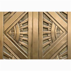 Art Deco Gold Door Canvas 24  X 36  by 8fugoso