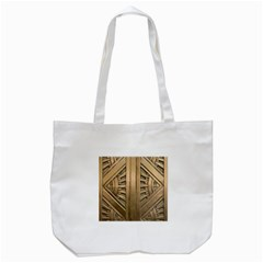 Art Deco Gold Door Tote Bag (white) by 8fugoso