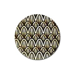 Art Deco Magnet 3  (round) by 8fugoso