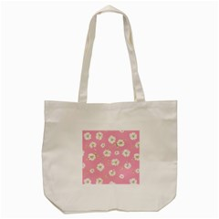 Pink Flowers Tote Bag (cream) by 8fugoso
