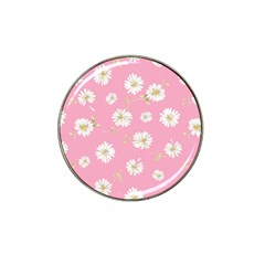 Pink Flowers Hat Clip Ball Marker (4 Pack) by 8fugoso
