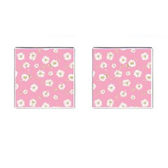 Pink Flowers Cufflinks (square) by 8fugoso