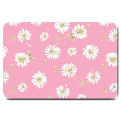 Pink Flowers Large Doormat  by 8fugoso
