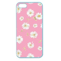 Pink Flowers Apple Seamless Iphone 5 Case (color) by 8fugoso