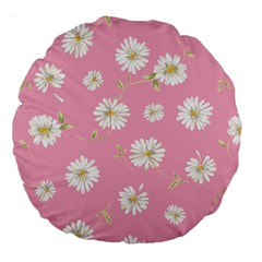 Pink Flowers Large 18  Premium Round Cushions by 8fugoso