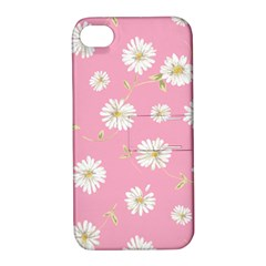 Pink Flowers Apple Iphone 4/4s Hardshell Case With Stand by 8fugoso