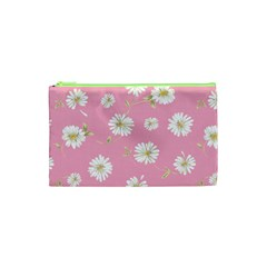 Pink Flowers Cosmetic Bag (xs) by 8fugoso