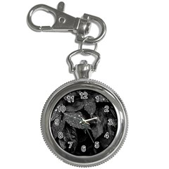 Black And White Leaves Photo Key Chain Watches by dflcprintsclothing
