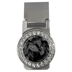 Black And White Leaves Photo Money Clips (cz)  by dflcprintsclothing
