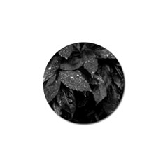 Black And White Leaves Photo Golf Ball Marker (4 Pack) by dflcprintsclothing