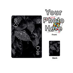 Black And White Leaves Photo Playing Cards 54 (mini)  by dflcprintsclothing