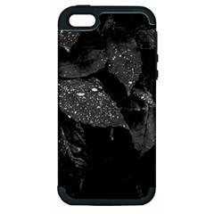 Black And White Leaves Photo Apple Iphone 5 Hardshell Case (pc+silicone) by dflcprintsclothing