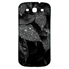 Black And White Leaves Photo Samsung Galaxy S3 S Iii Classic Hardshell Back Case by dflcprintsclothing