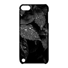 Black And White Leaves Photo Apple Ipod Touch 5 Hardshell Case With Stand by dflcprintsclothing