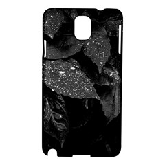 Black And White Leaves Photo Samsung Galaxy Note 3 N9005 Hardshell Case by dflcprintsclothing