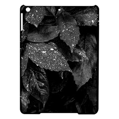 Black And White Leaves Photo Ipad Air Hardshell Cases by dflcprintsclothing