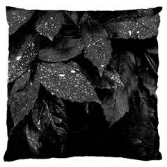 Black And White Leaves Photo Standard Flano Cushion Case (one Side) by dflcprintsclothing