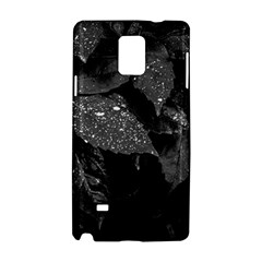 Black And White Leaves Photo Samsung Galaxy Note 4 Hardshell Case by dflcprintsclothing