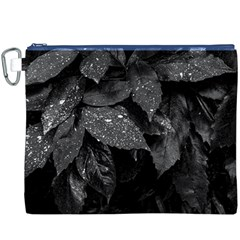 Black And White Leaves Photo Canvas Cosmetic Bag (xxxl) by dflcprintsclothing