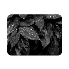 Black And White Leaves Photo Double Sided Flano Blanket (mini)  by dflcprintsclothing