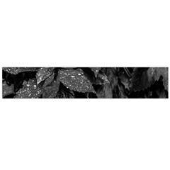 Black And White Leaves Photo Large Flano Scarf  by dflcprintsclothing