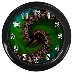Benthic Saltlife Fractal Tribute For Reef Divers Wall Clocks (black) by beautifulfractals