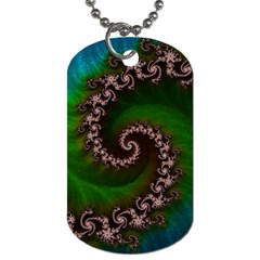 Benthic Saltlife Fractal Tribute For Reef Divers Dog Tag (one Side) by beautifulfractals