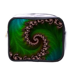 Benthic Saltlife Fractal Tribute For Reef Divers Mini Toiletries Bags by jayaprime