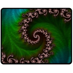Benthic Saltlife Fractal Tribute For Reef Divers Fleece Blanket (medium)  by beautifulfractals