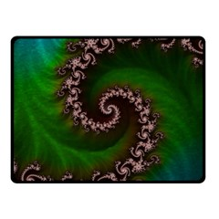 Benthic Saltlife Fractal Tribute For Reef Divers Fleece Blanket (small) by jayaprime