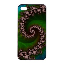 Benthic Saltlife Fractal Tribute For Reef Divers Apple Iphone 4/4s Seamless Case (black) by jayaprime