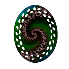 Benthic Saltlife Fractal Tribute For Reef Divers Oval Filigree Ornament (two Sides) by jayaprime