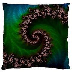 Benthic Saltlife Fractal Tribute For Reef Divers Standard Flano Cushion Case (one Side) by jayaprime