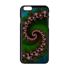 Benthic Saltlife Fractal Tribute For Reef Divers Apple Iphone 6/6s Black Enamel Case by jayaprime