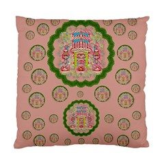 Sankta Lucia With Friends Light And Floral Santa Skulls Standard Cushion Case (two Sides) by pepitasart