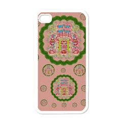 Sankta Lucia With Friends Light And Floral Santa Skulls Apple Iphone 4 Case (white) by pepitasart