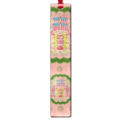 Sankta Lucia With Friends Light And Floral Santa Skulls Large Book Marks by pepitasart