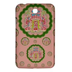 Sankta Lucia With Friends Light And Floral Santa Skulls Samsung Galaxy Tab 3 (7 ) P3200 Hardshell Case  by pepitasart