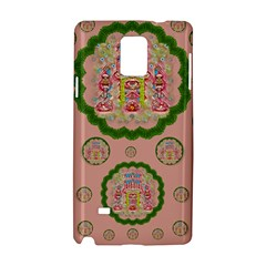 Sankta Lucia With Friends Light And Floral Santa Skulls Samsung Galaxy Note 4 Hardshell Case by pepitasart