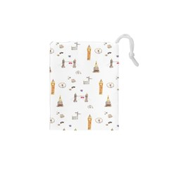 Graphics Tower City Town Drawstring Pouches (xs)  by Alisyart