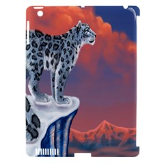 Lion Tigel Chetah Animals Snow Moon Blue Sky Apple Ipad 3/4 Hardshell Case (compatible With Smart Cover) by Alisyart