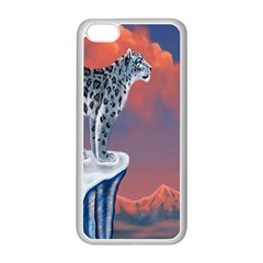 Lion Tigel Chetah Animals Snow Moon Blue Sky Apple Iphone 5c Seamless Case (white) by Alisyart